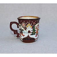"""Глиняная посуда """"Чашка для кофе Рождество"""""""