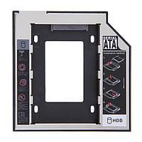 Адаптер на второй жесткий диск 2.5 SATA-SATA, 12.7, фото 1