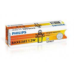 Лампа накаливания Philips BAX 8.5d/2 Black, 10шт/картон 12598CP
