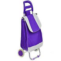 Тачка сумка с колесиками кравчучка металл 94см MH-2079 фиолетовая