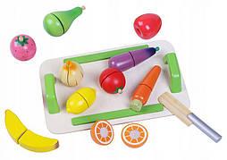 Набор деревянных овощей и фруктов Ecotoys 4309