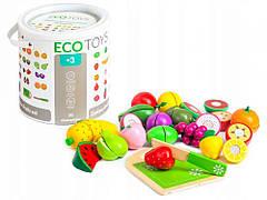 Набор деревянных овощей и фруктов 20szt Ecotoys TL87114