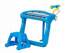 Детское пианино с фикрофоном BB375A BLUE