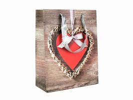 Подарочный пакет Сердце 23см