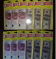 "Ароматизатор-карточка в авто ""Доллар"", ""Евро"""