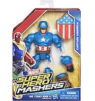 Разборная фигурка супергероя Капитан Америка - Captain America, Marvel, Mashers, Hasbro - 143408