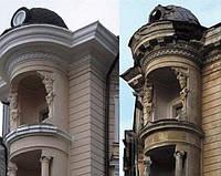 Реставрация фасада из травертина