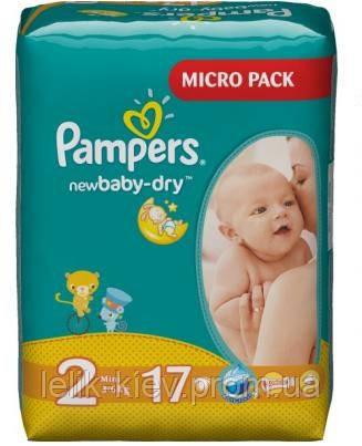 Pampers Подгузники Pampers New Baby-Dry 2 Mini 17 шт. - Лёлик в Киеве