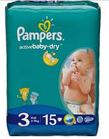 Pampers Подгузники Pampers Active Baby-Dry 3 Midi 15 шт.