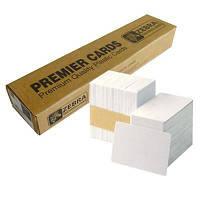 Карточка пластиковая чистая Zebra Premier PVC, белые, 30 mil, 500 шт (104523-111)