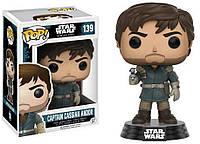 Фигурка Funko Pop Star Wars Captain Cassian Andor Звездные войны Капитан Кассиан Андор 10 см - 223035