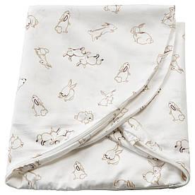 IKEA, LEN, Подушка для кормления, орнамент Кролики, белый, 60x50x18 см (004.141.37)(00414137) ЛЕН ИКЕА