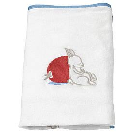 IKEA, VADRA, Чехол на пеленальную подстилку, орнамент Кролики, белый, 48x74 см (404.453.54)(40445354) ВАДРА ИКЕА
