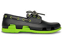 Мужские Crocs Beach Line Boat Shoe Dark Grey Green (Реплика ААА+)