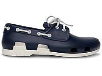 Мужские Crocs Beach Line Boat Shoe Dark Blue White (Реплика ААА+)