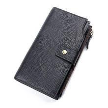Клатч Мужской Кожаный Vintage 14958 Черный, Черный