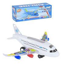 Самолёт на батарейках (синий) А380-300