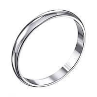 Серебряное обручальное кольцо Первый танец 000119331 18 размер