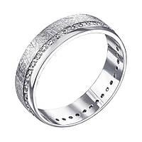Обручальное серебряное кольцо с фианитами 000133407 000133407 19.5 размер