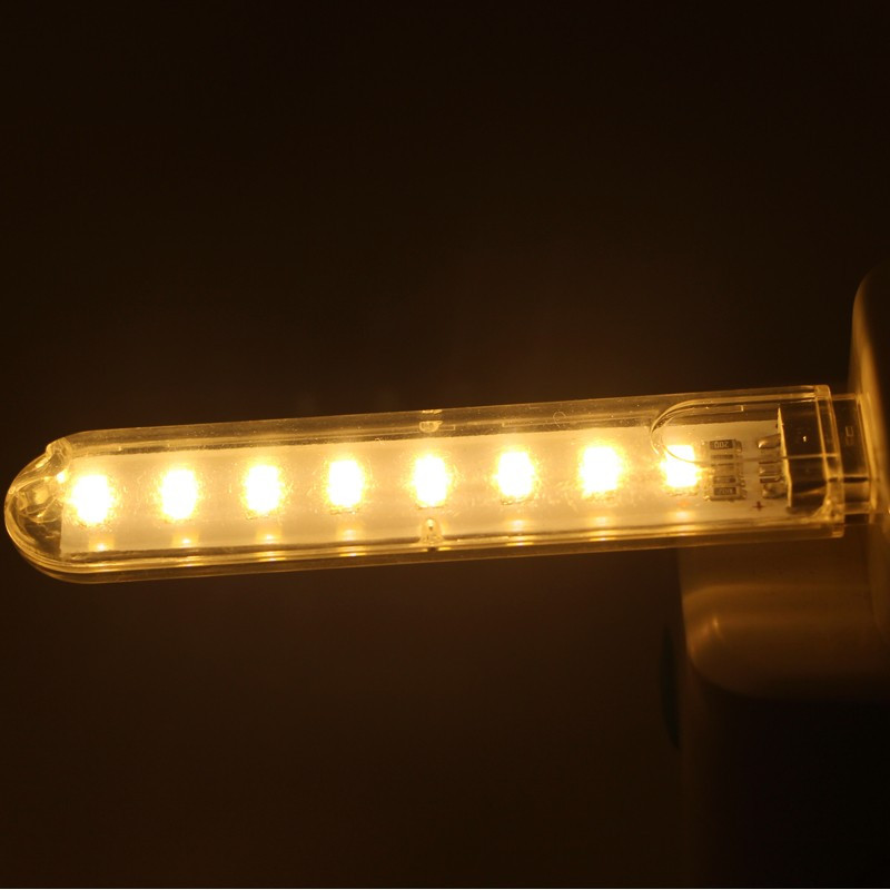 USB светодиодный фонарик, 8 светодиодов