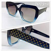Женские солнцезащитные очки квадраты оверсайз синяя оправа градиент, фото 1