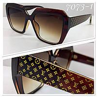 Женские солнцезащитные очки квадраты оверсайз коричневые, фото 1