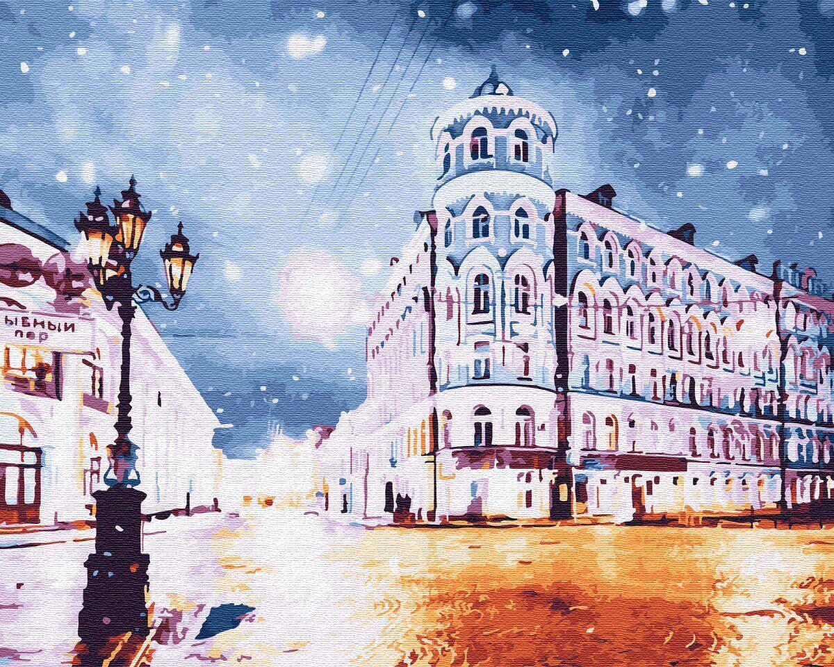 BK-GX30132 Картина для рисования по номерам Ночной город, Без коробки