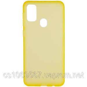 Силиконовый матовый полупрозрачный чехол для Samsung Galaxy M30s