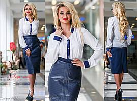 Женская классическая блуза       ST-835-a