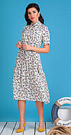 Платье Мода-Юрс-2479 белорусский трикотаж, молочный, 46