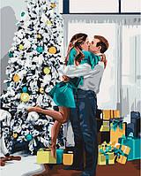 """Картина по номерам. """"Новогоднее настроение"""" 40*50см KHO4637"""