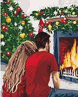 "Картина по номерам. ""Рождественская романтика"" 40*50см KHO4640"
