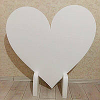Серце з пінопласту 1 м на підставці, фото 1