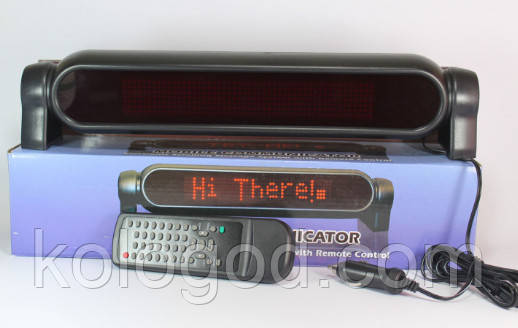 Бегущая Строка В Авто 12v P750 Red Вывеска Рекламная В Автомобиль Светодиодная Вывеска Красная