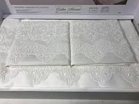 Комплект постельного белья с кружевом Gelin home Liya white
