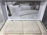 Комплект постельного белья с кружевом Gelin home pelin krem