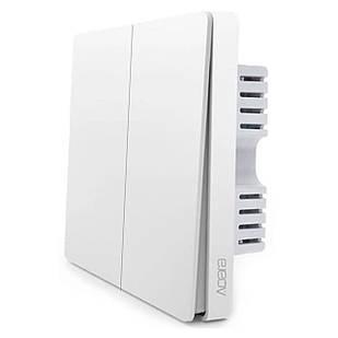Умный выключатель Aqara Smart Light Switch ZigBee Version 2 кнопки без нулевой линии Белый (3993-11148)