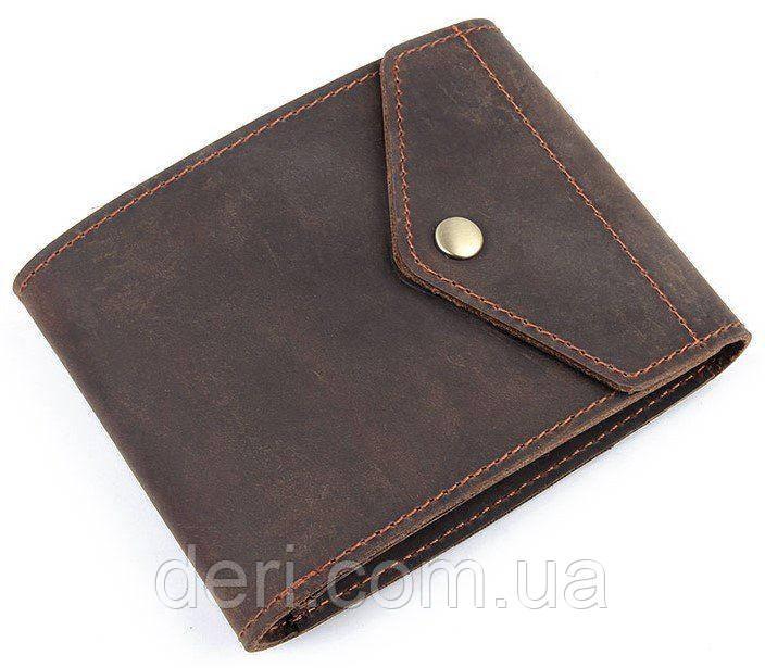 Бумажник горизонтальный в коже коричневый Crazy horse Vintage