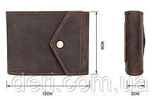 Бумажник горизонтальный в коже коричневый Crazy horse Vintage, фото 2