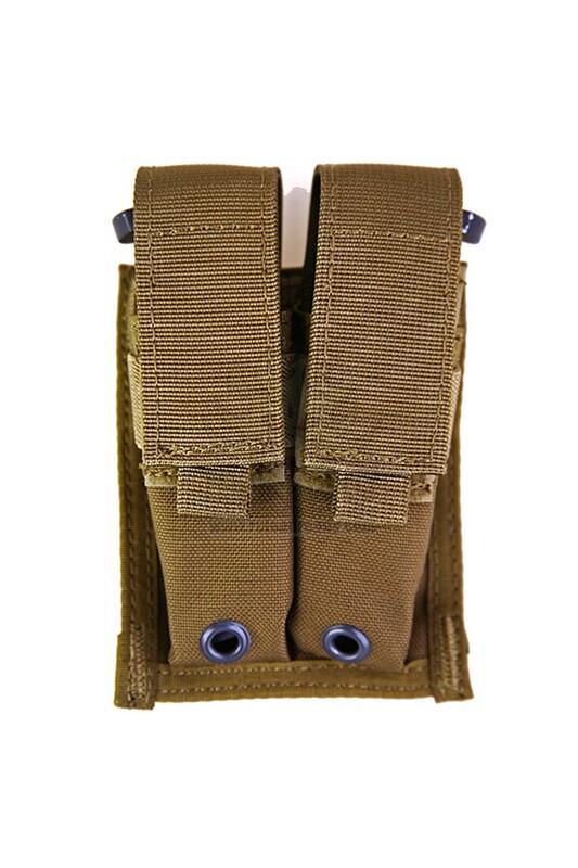 Оригинал Подсумок для пистолетных магазинов двойной молле Pantac Molle 9mm Pistol Double Mag Pouch PH-C202, Cordura Coyote Brown