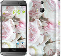 "Чехол на HTC One M8 dual sim Пионы v2 ""2706c-55"""