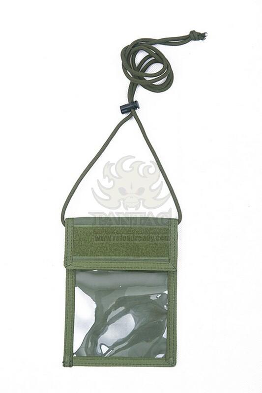 Pantac Neck ID Wallet OT-C717, Cordura Чорний