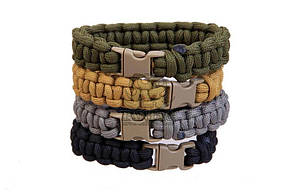 Pantac Paracord Bracelet OT-N536, Small/Medium/Long (7/8/9 дюймов) Хакі (Khaki), Small