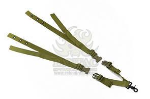 Оригинал Трехточечный ремень для оружия на бронежилет Pantac One Point Sling For Ciras SL-N063, II vers Хакі