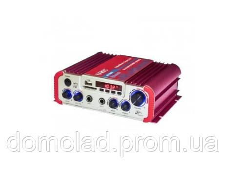 Усилитель Мощности Звука AMP AV 206 BT Компактный Усилитель Звука