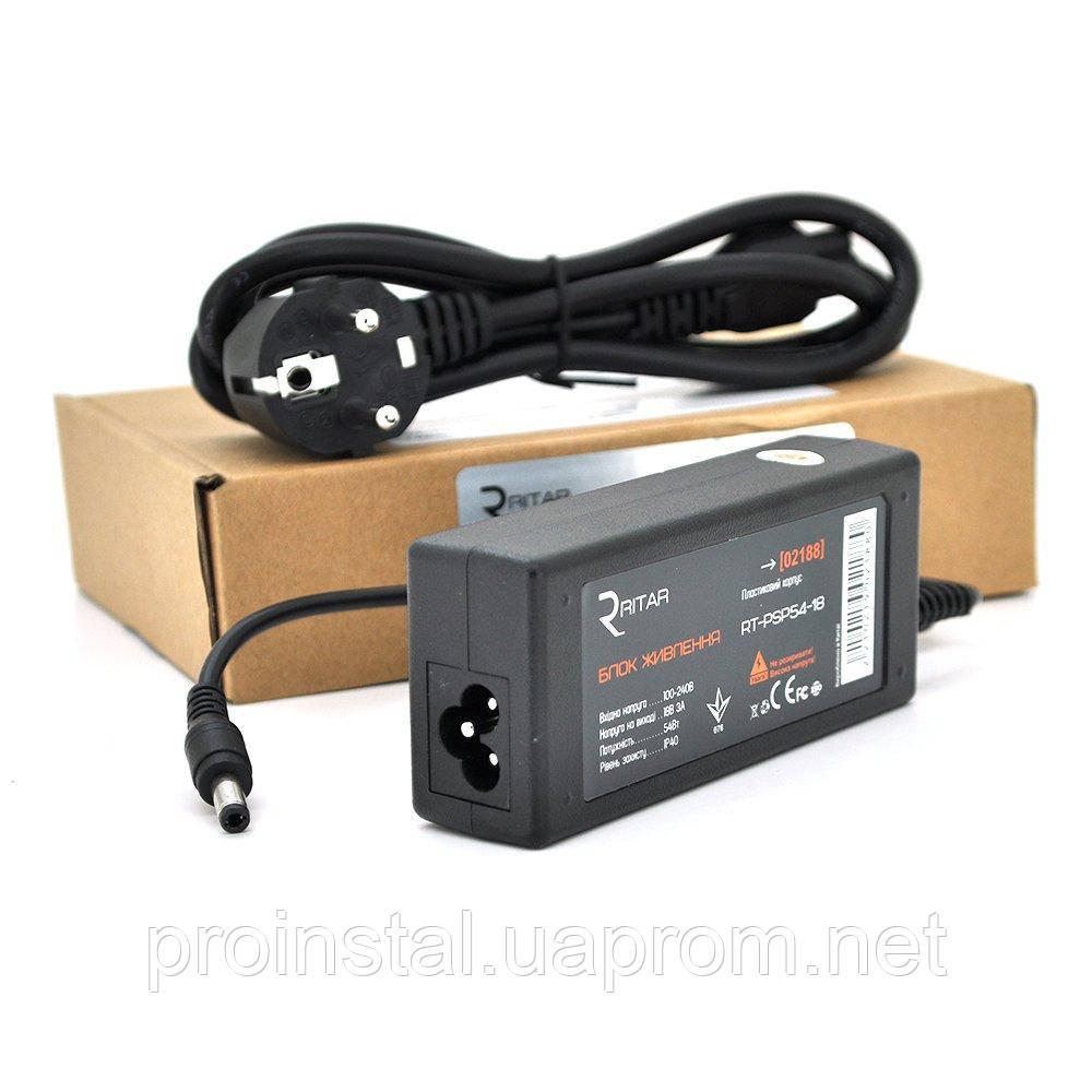 Импульсный адаптер питания Ritar RTPSP 18В 3А (54Вт) штекер 5.5 - 2.5 длина 1м Q100