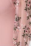 Платье коктейльное с вышивкой персиковое Флоренция В, фото 5