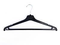 Вешалка плечики тремпель костюмная чёрная 40 см