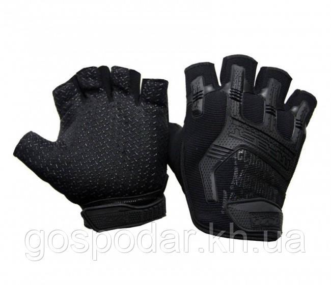 Рукавички безпалі MPACT Mechanix чорні (репліка)