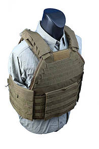 Оригинал Бронежилет чехол Shark Molle SPC Armor Vest 90002937, Medium, 900D Coyote Brown